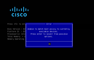 CiscoUCS Boot Policy